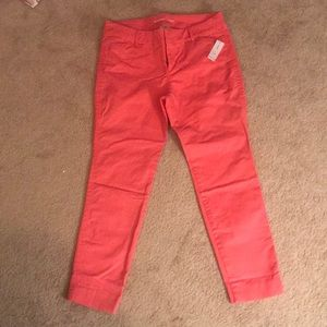 NWT Old Navy Pixie Chino (pink/salmon) size 6P